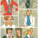 Simplicity Vintage Sewing Pattern Neckties Dickey Ascot Bow Tie Cuffs Misses Easy 5218