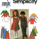 Easy Jumper Dress Overalls Top Sewing Pattern Boy Girl Toddler 2 3 4 7352