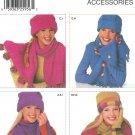 Fleece Scarf Gloves Sewing Pattern Hats Bucket Snow Ski Beanie Handbag Fall Winter Outerwear 5920