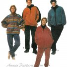 Fleece Wear Sewing Pattern Easy Top Jacket Pants Zip Front Pullover Ski Winter Unisex XL 42 44 7409