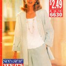 Suit Jacket Capri Pant Sewing Pattern Shell Top Shorts 90s Boxy Fit Loose Easy 6-14 6630