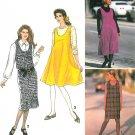 Easy Jumper Dress Sewing Pattern Pullover Knee Above Calf U-Neck 6-24 7433