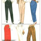 Misses Pants Sewing Pattern Vintage Pleated Elastic Waist Retro Mod Two Widths 14 9218