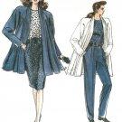 Vintage Vogue Swing Coat Sewing Pattern Skirt Pants Unlined Jacket Retro Mod 14-18 7107