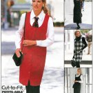 Jumper Dress Sewing Pattern Easy Shirt Deep Neckline Pullover 2 Lengths 10-14 8456