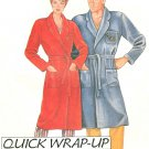 Easy Wrap Robe Sewing Pattern Unisex Collar Spa Oversize Pocket Belt Small Extra Large 0011