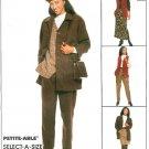 Pantsuit Sewing Pattern Separates Pants Jacket Vest Skirt Easy Pull-on 12 14 16 8905