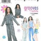 Juniors Pajama Sewing Pattern Easy Top Pant Shorts Tank 3-10 8911