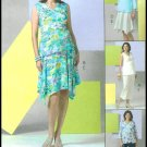 Maternity Top Skirt Sewing Pattern Pants Empire Waist Blouse Irregular Hem 6-12 Easy 4880