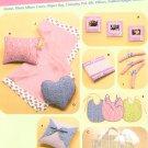 Baby Gifts Sewing Pattern Diaper Bag Changing Pad Bib Pillow Padded Hanger Blanket Frame Album 4642