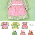 Baby Dress Sewing Pattern Infant Girl Pants Tunic Pinafore Long Short Sleeve NB 18 Months 3656
