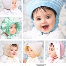 Baby Hat Bonnets Sewing Pattern Sailor Boy Girl Easter Spring Summer Prairie Hanky NB Large 3840