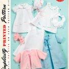 Simplicity Vintage Layette Pattern Christening Dedication Gown Bib Slip Kimono Sacque Bonnet 2900