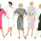 Asymmetrical Dress Sew Pattern Top Skirt Vintage Kimono Sleeve Disco Pullover Plus 20-24 3460