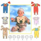 Baby Romper Sew Pattern Bib Hat Boy Girl Applique Bear Star Rabbit Heart Short Long Footed NB-L 7827