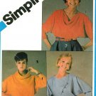 Vintage Draped Neck Top Sewing Pattern Cowl Dolman Sleeve Kimono Retro Pullover 6-10 6510
