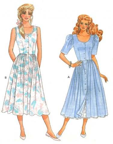 80s Sweetheart Dress Sewing Pattern Petticoat Fitted Bodice Full