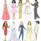 Barbie Doll Fashion Clothes Sewing Pattern Wardrobe Dress Jumper Gown Party Evening 10 Outfits 9838