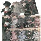 Teddy Bear Sewing Pattern Stuffed Plush Toy Clothing Wedding Christmas Ballerina Sailor Santa 5172