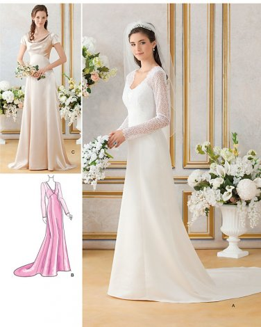 Wedding Gown Pattern Bridal Dress Bridemaids Raised Fitted Bodice