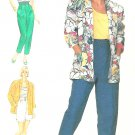 Raised Waist Shorts Pants Sewing Pattern Loose Jacket Top Cropped Capri Easy Vintage 10 7381
