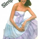 Strapless Dress Sewing Pattern Tiered Skirt Tied Bust Gypsy Boho Hipster Easy Vintage 10 9962