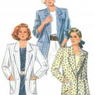 Unlined Suit Jacket Sewing Pattern Vintage Boxy Straight Lines Below Hip Loose 8 10 12 4641