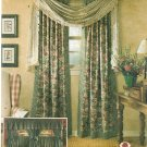 Window Treatments Sew Pattern Swag Tab Top Drapes Panels Cafe Curtain Ballon Federal Valance 8052