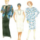 Women Plus Jacket Dress Sewing Pattern Unlined Shoulder Pleats Extended Shoulder 24 1/2 2281 Vintage