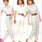 Misses Jumpsuit Sewing Pattern Easy Vintage 80s Disco Long Short Cap Sleeve Loose Fit 6 8 10 6087