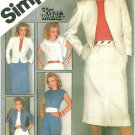 Womens Plus 20 Wardrobe Sewing Pattern Lined Suit Jacket Skirt Pants Top Vintage 80s 6272