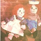 Raggedy Ann Andy Sewing Pattern Vintage Uncut 1970 Stuff Doll Toy Clothes 3 Size 15 20 25 Inch