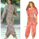 Misses Jumpsuit Sewing Pattern Drop Waist Basque Vintage Short Long Sleeve 2 Lengths 6-10 5635