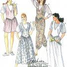 Vintage Jumper Dress Jumpsuit Pattern Dropped Shaped Waist Basque Sleeveless T-Shirt Easy 12 5368