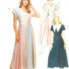 Easy Dress Pattern Panel Skirt Fitted Bodice Long Above Ankle Cap Sleeve 12 14 16 7510