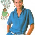 Easy Tunic Top Sewing Pattern Vintage Long Short Sleeve Pullover 80s Hipster Mod 10 12 14 7450
