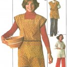 Craft Smock Apron Sewing Pattern 8/10 70s Vintage Tie Back Sleeveless 3/4 Sleeve Front Pockets 7708