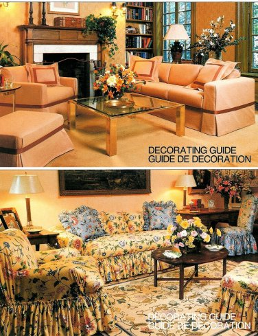 Vintage Vogue Slipcover Sewing Pattern Furniture Sofa Couch Chair Ottoman Pillows Home Decor 1711