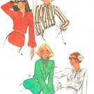 Hipster Blouse Sewing Pattern 70s Long Sleeve Pullover Neck Ties Loose Fit Vintage Plus Size 16 5675