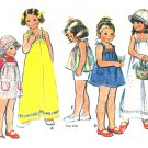 Girls Sundress Dress Sewing Pattern Vintage Top Jumper Tie Shoulder Easy Sz 6 5064