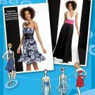 Strapless Dress Sewing Pattern Halter Formal Prom Evening Short Long Neck Flounce 4-12 2212