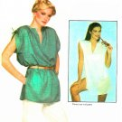 Tunic Top Sewing Pattern Vintage Sz 4 Loose Gathered Shoulder Pullover Kimono Sleeve 70s 6645