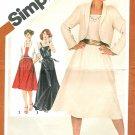 Spaghetti Strap Dress Sewing Pattern Ankle Knee Length Bolero Jacket Sz 12 Vintage 5318