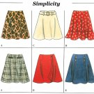 A-line Skirt Sewing Pattern Easy Circular No Waistband Mock Wrap Sailor Belted Above Knee 4-8 7377