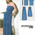 Strapless Dress Sewing Pattern Sz 14/16 Long Short Beach Terry Cloth Cover-Up Easy Vintage 9032