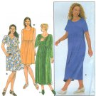 Womans Plus Dress Pattern 26W-32W Pullover Long Short Sleeve Ankle Knee Length Raised Bodice 8191