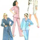 Vintage Pajama Sewing Pattern Robe Pant Top Sleepshirt Easy Long Short Sleeve 10-12 5786