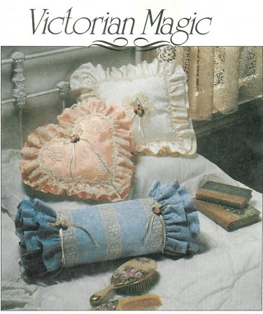 Victorian Home Decor Sewing Pattern Lace Romantic Pillow Basket Picture Frame Trinket Box 0010