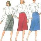 Straight Skirt Sewing Pattern Plus 20 Slim Easy Below Knee Vintage 7668