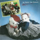 Boy Girl Teddy Bear Rabbit Sewing Pattern Top Pant Dress Apron 20 In Jointed Plush Stuff Toy 7474